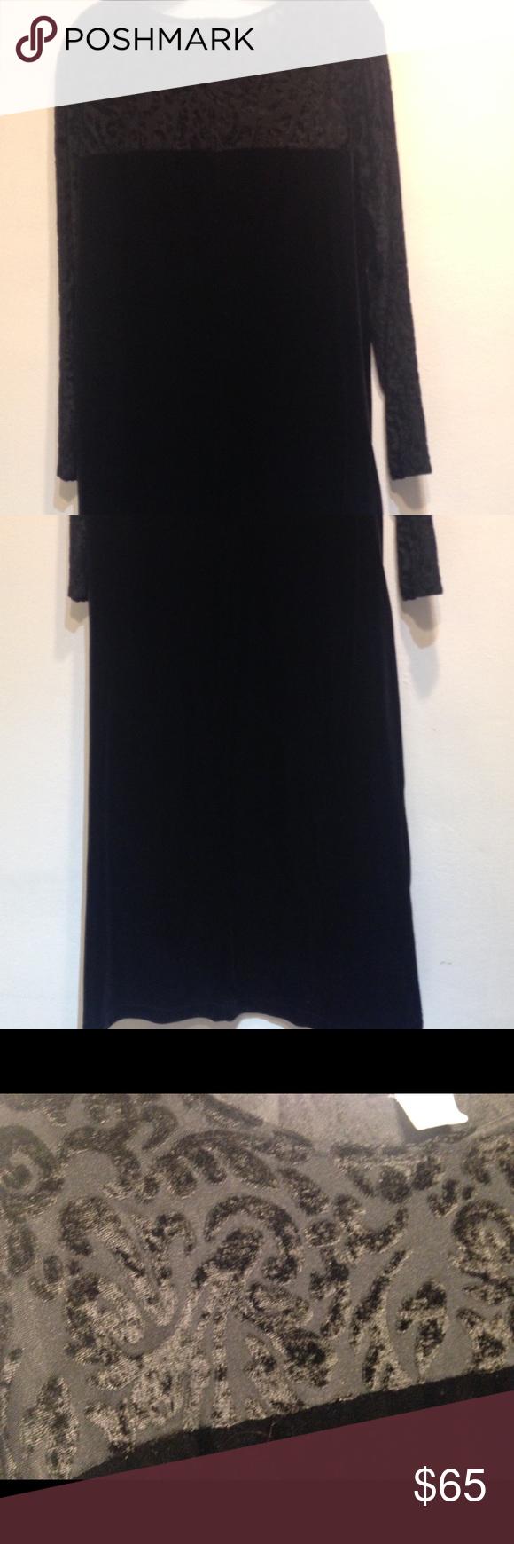 Diane von furstenberg black velvet dress sz x diane von furstenberg