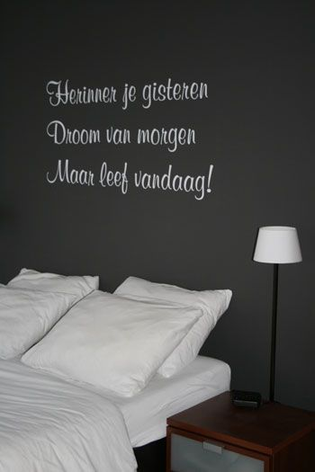 Sticker Teksten Voor Op De Muur.Tekst Op De Muur 2 Interieur Home Bedroom Wall Stickers Quotes