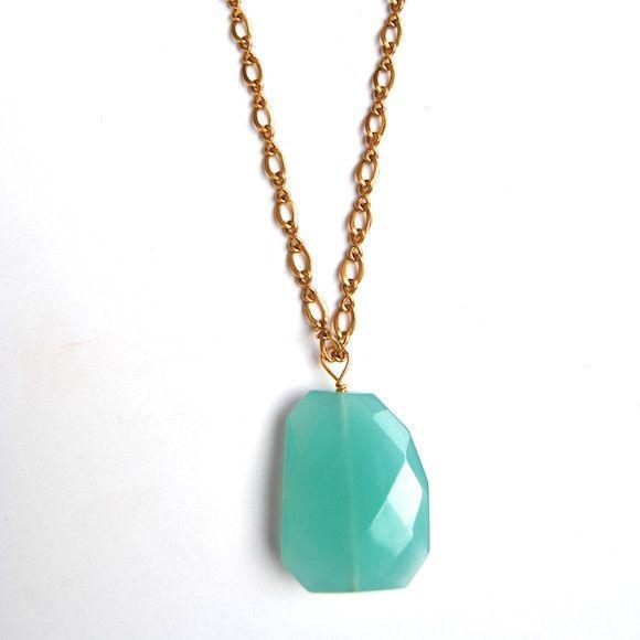 Aqua Quartz Harper Statement Necklace-Eff.Y.bee