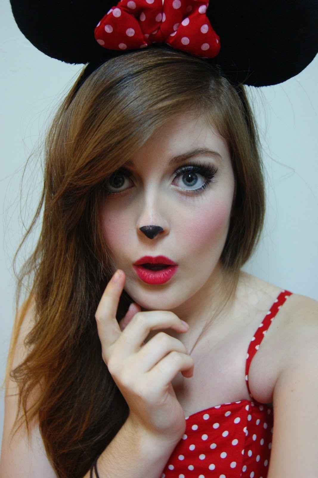 minnie mouse makeup diy halloween pinterest kost m. Black Bedroom Furniture Sets. Home Design Ideas