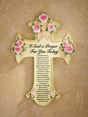 Floral I Said a Prayer Wall Cross | CROSSES | Prayer wall
