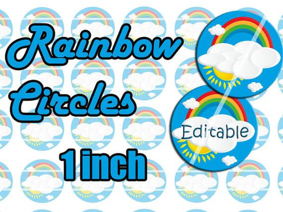 Rainbow Inch Circles Editable Blank X Diy Template Name Badge Id - 4x6 name badge template