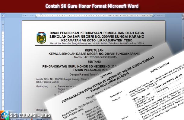 File Pendidikan Contoh Format Surat Keputusan Pengangkatan