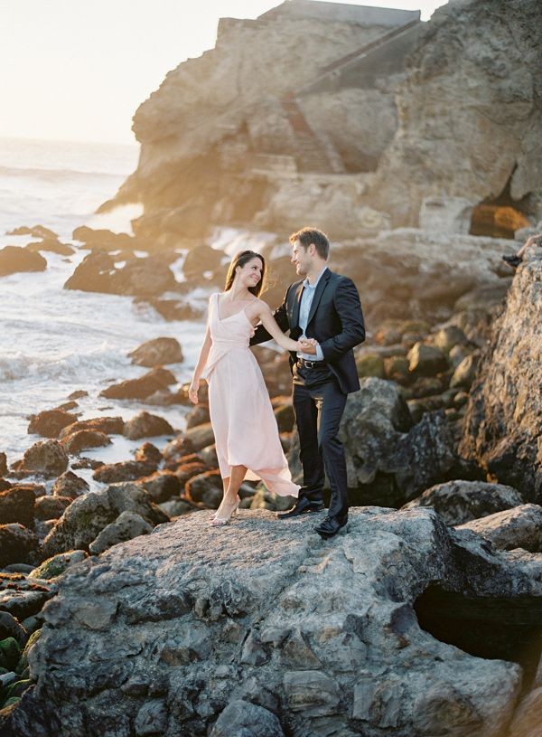 Sutro Baths engagement session, photo by Coco Tran http://ruffledblog.com/sutro-baths-engagement-session #engagementsession #engagementshoot