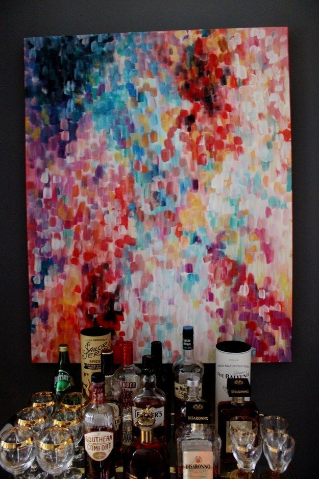 creating canvas art. Diy art Make approximately 3 000 little ovals  DIY ideas Community and