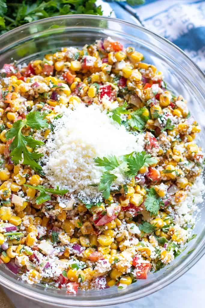 Mexican Street Corn Salad #mexicanstreetcorn