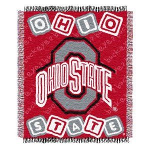 """NCAA Ohio State Buckeyes 36-Inch-by-46-Inch Woven Jacquard Baby Throw by Northwest. $19.99. 36-Inch x 46-Inch (approximate) Woven Jacquard Baby Throw. 100% Acrylic. Officially Licensed. NCAA Ohio State Buckeyes 36""""x46"""" Woven Jacquard Baby Throw"""