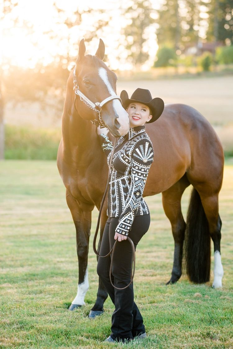 """Kaylie Banks and her AQHA gelding """"Lookin Famous"""" (Linus) at"""