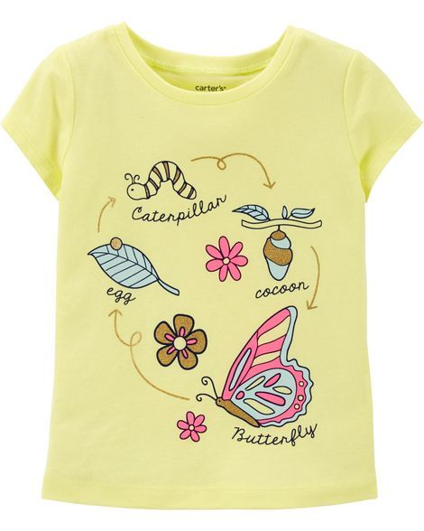 119b1358 Neon Butterfly Life Cycle Jersey Tee in 2019   Products