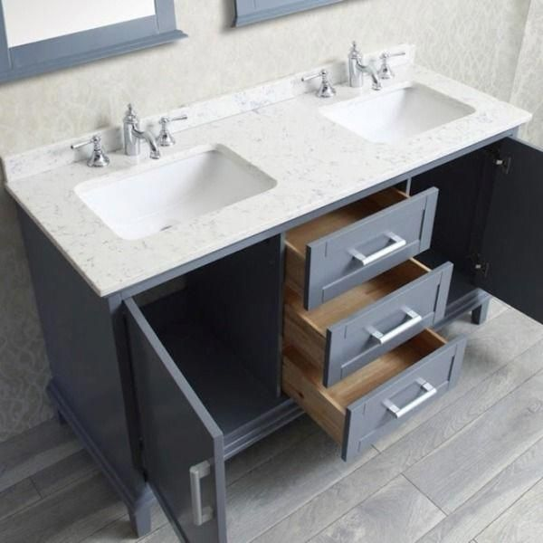 Nantucket 60 Inch Double Sink Bathroom Vanity Set 16840736