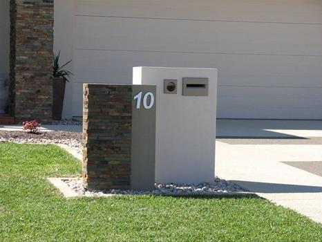 Modern Letterbox Ideas Stone Mailbox Ideas .mailbox Rendered Letterbox Rendered