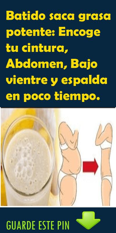 Dieta para bajar el abdomen bajo