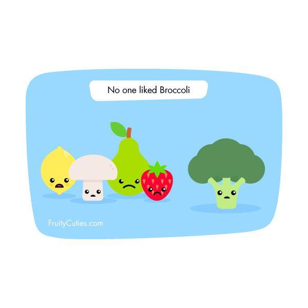 Broccoli joke cute comedy with kawaii fruit fruity - Fruity cuties jokes ...