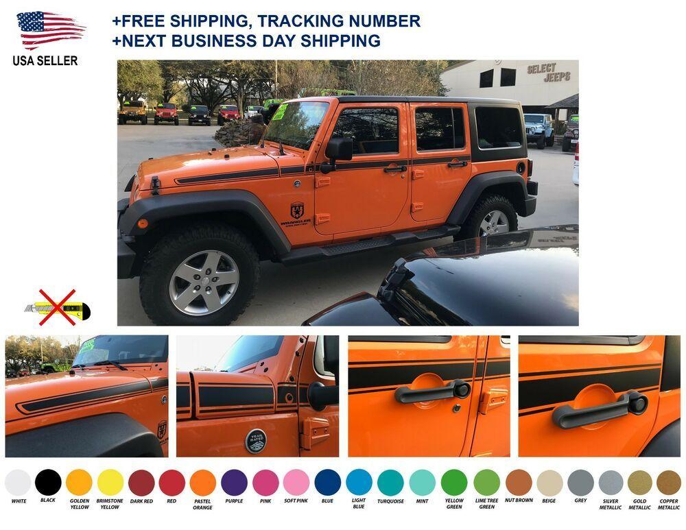 101 Jeep Wrangler Rubicon Recon Chief Stripes Decal Graphic Jk Jku