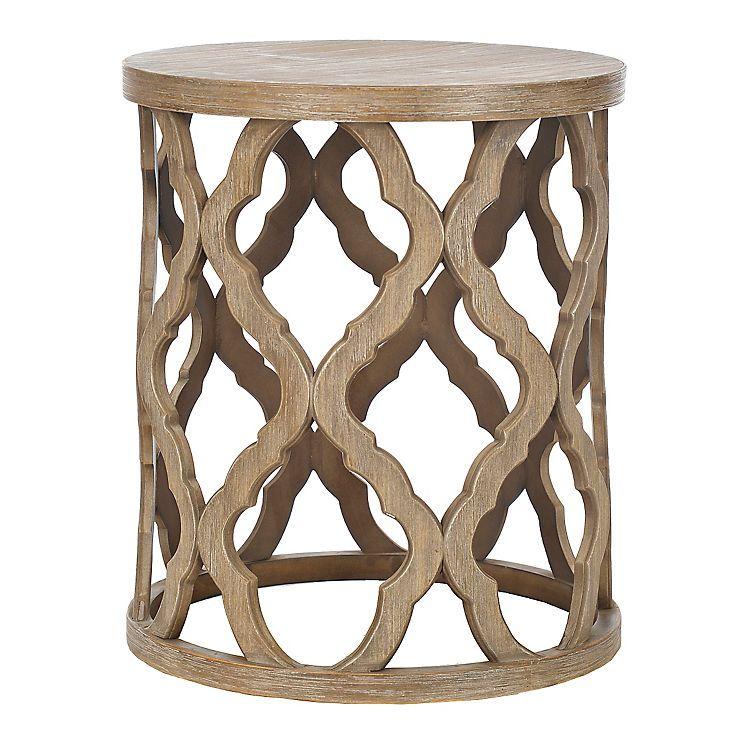 Quatrefoil Wood Accent Table Quatrefoil Woods and Decorating