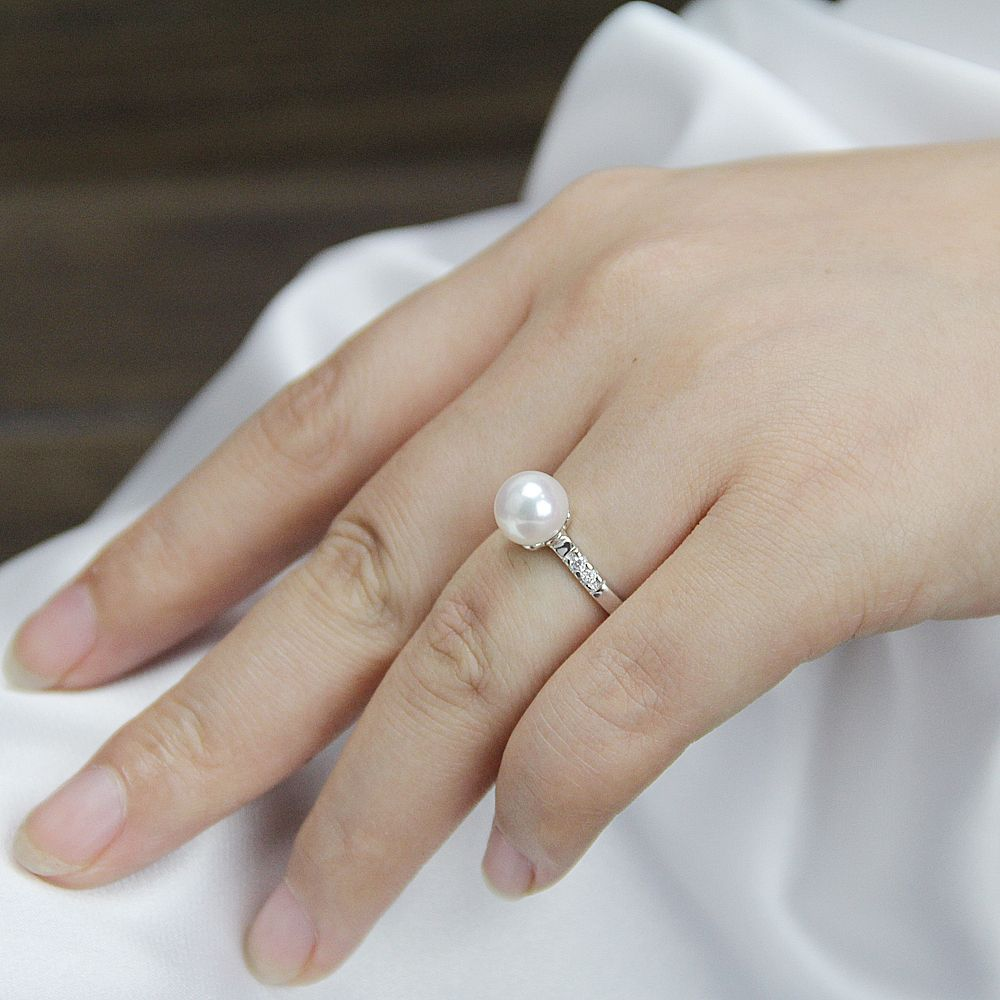 Pearl Wedding Rings For Womenopen By Pearlonly On Etsy