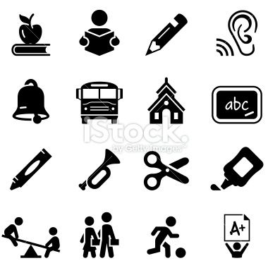Stock Illustration 12202284 Early Learning Icons Black Seriesg