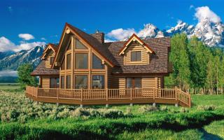 Breckenridge Floor Plan By Yellowstone Log Homes In 2020 Log