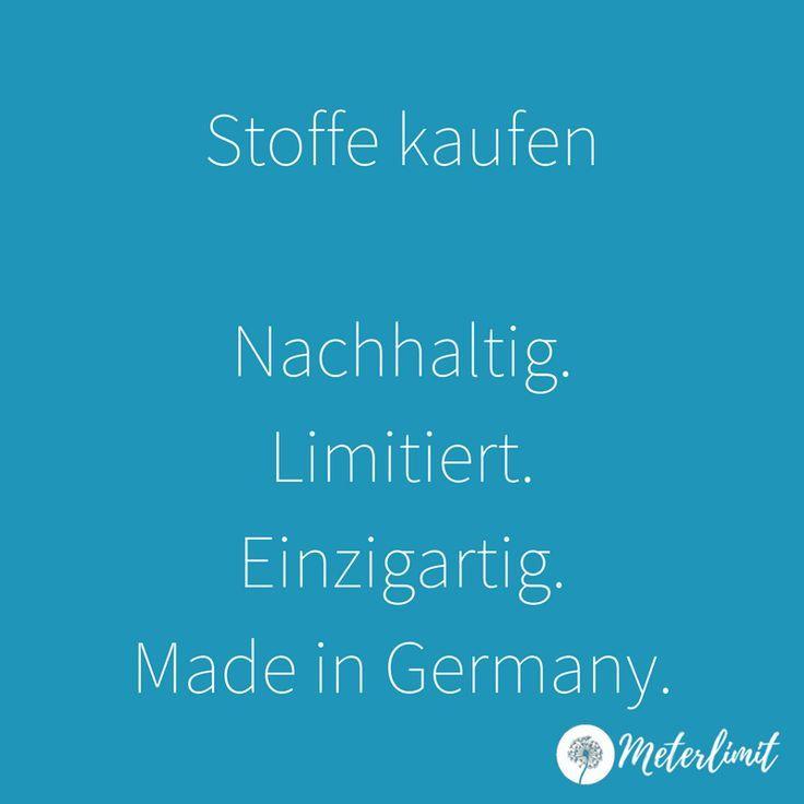 Stoffe und Meterware kaufen Made in Germany und im