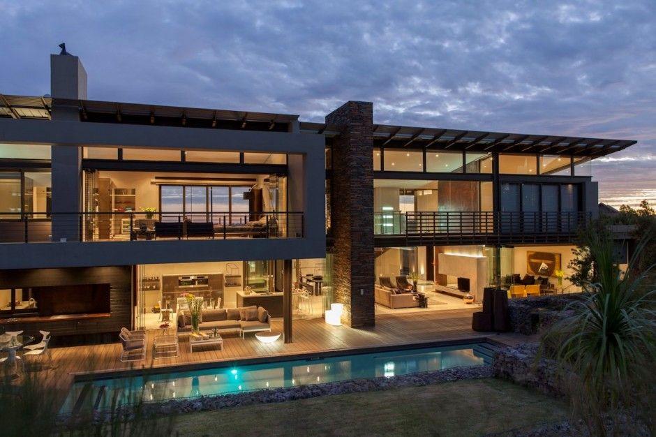 Maison contemporaine en pierre et verre. | Villas et maisons de rêve ...