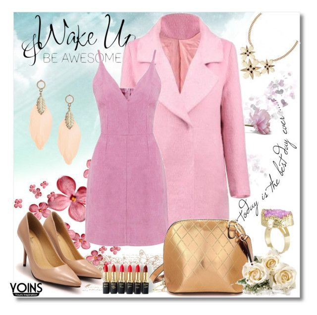 """""""**2016 Pink Valentine's Day**"""" by meldin ❤ liked on Polyvore featuring L'Oréal Paris, women's clothing, women's fashion, women, female, woman, misses, juniors and yoin"""