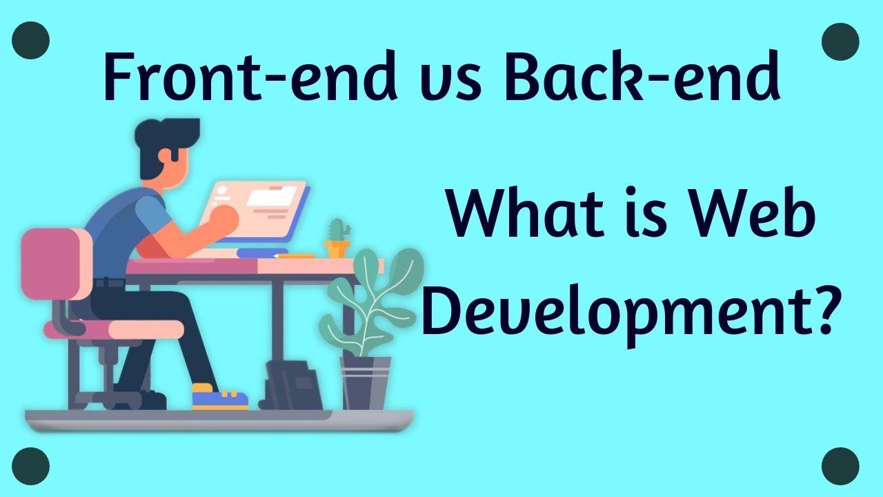 What Is Front End Back End Web Development Technology Coding Languages Used For Website Design Fro Web Development Website Design Web Developer Portfolio