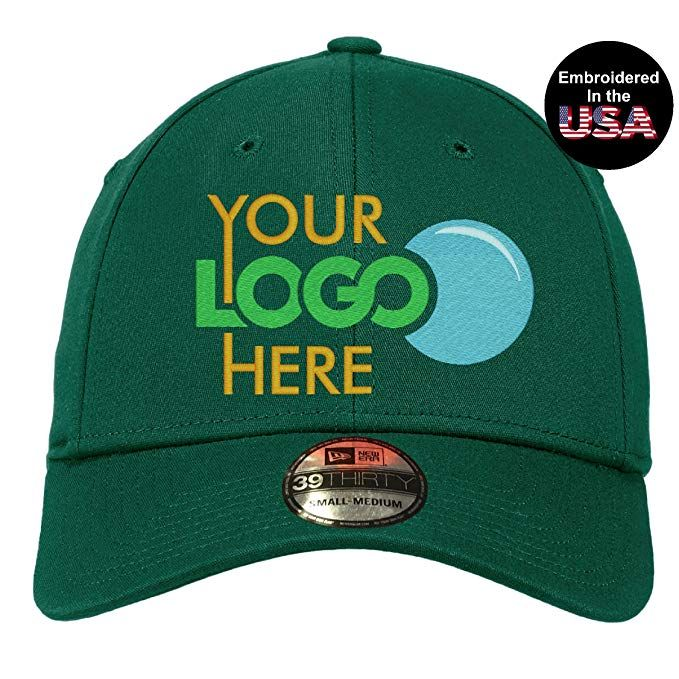 fd2289fd2c02f UNAMEIT Your Custom Logo Embroidered On New Era 39Thirty Cap. Curved Bill.  Review