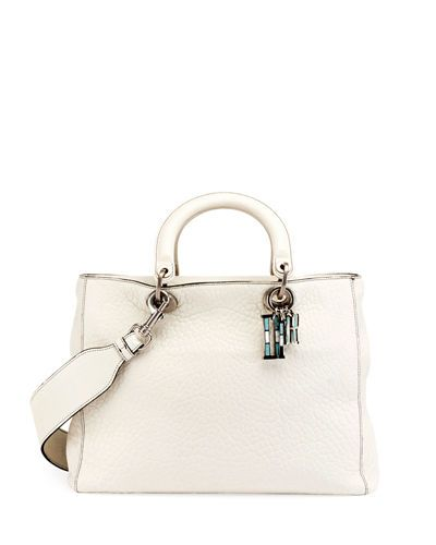 DIOR LADY DIOR CANYON GRAINED LAMBSKIN HANDBAG WITH MOSAIC MOTIF CHARMS.   dior   e6fc9fd5263fe