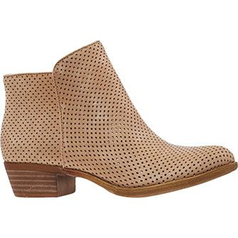 Wheat Perforated Ankle Boots