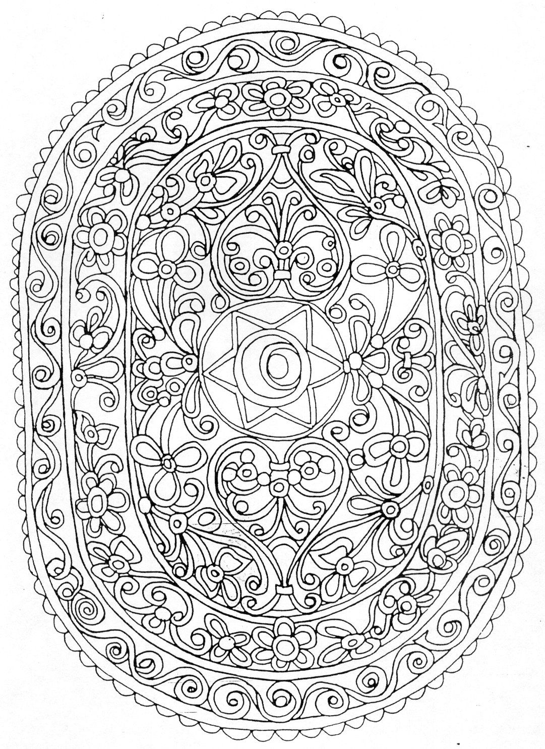 Mandal36 | Mandalas, Mandala para colorear y Colorear