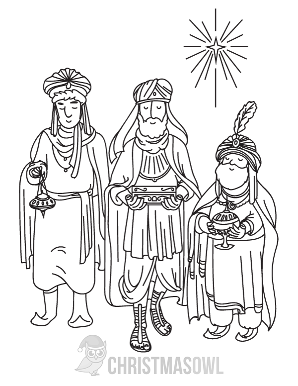 Free Printable Three Wise Men Coloring Page Download It At Https Christmasowl Com Download Coloring Pag Three Wise Men Coloring Pages Crayola Coloring Pages