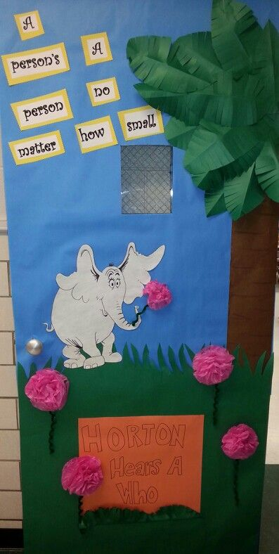 Horton Hears a Who Door for Dr. Seuss week