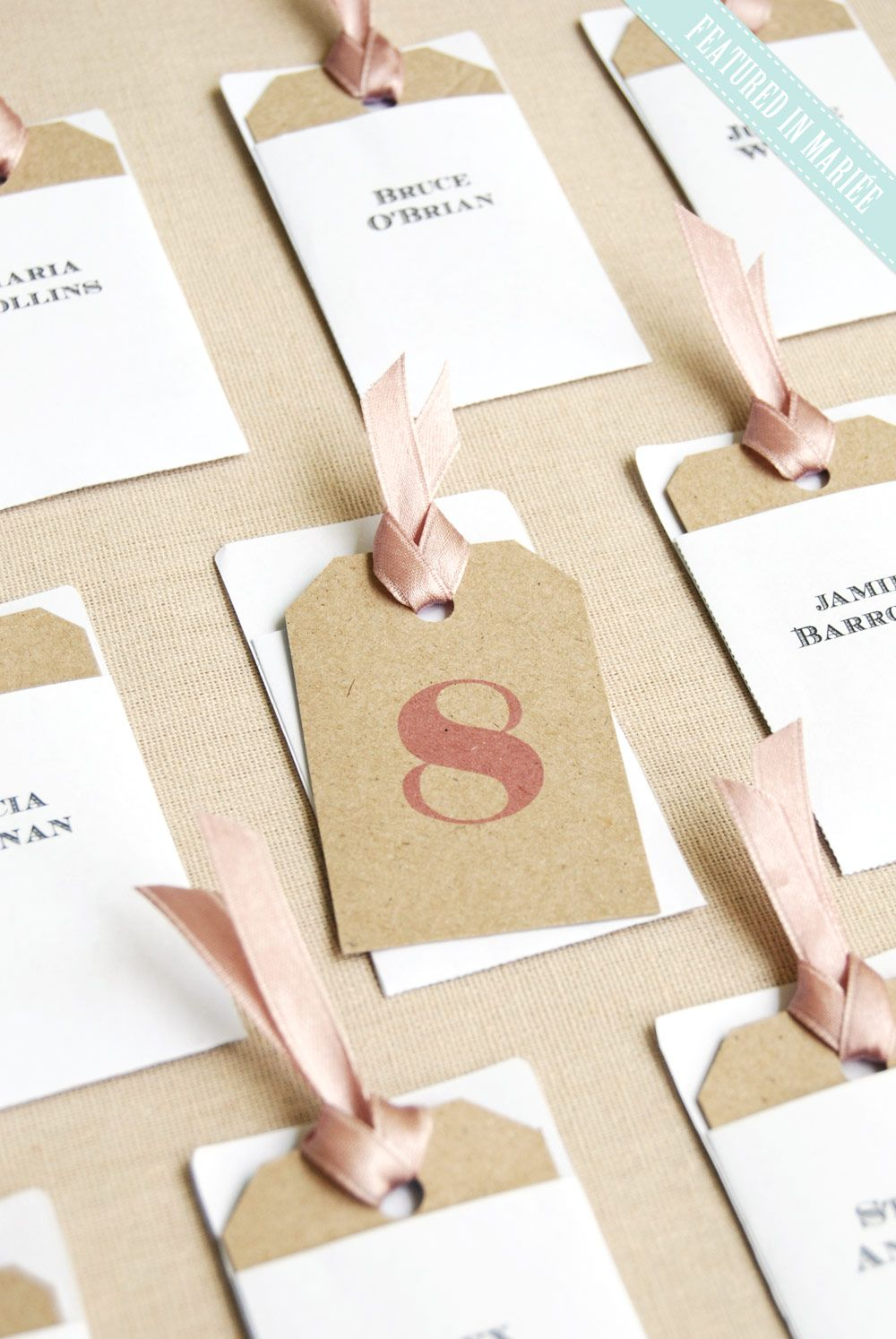 Small Escort Card Tags Envelopes