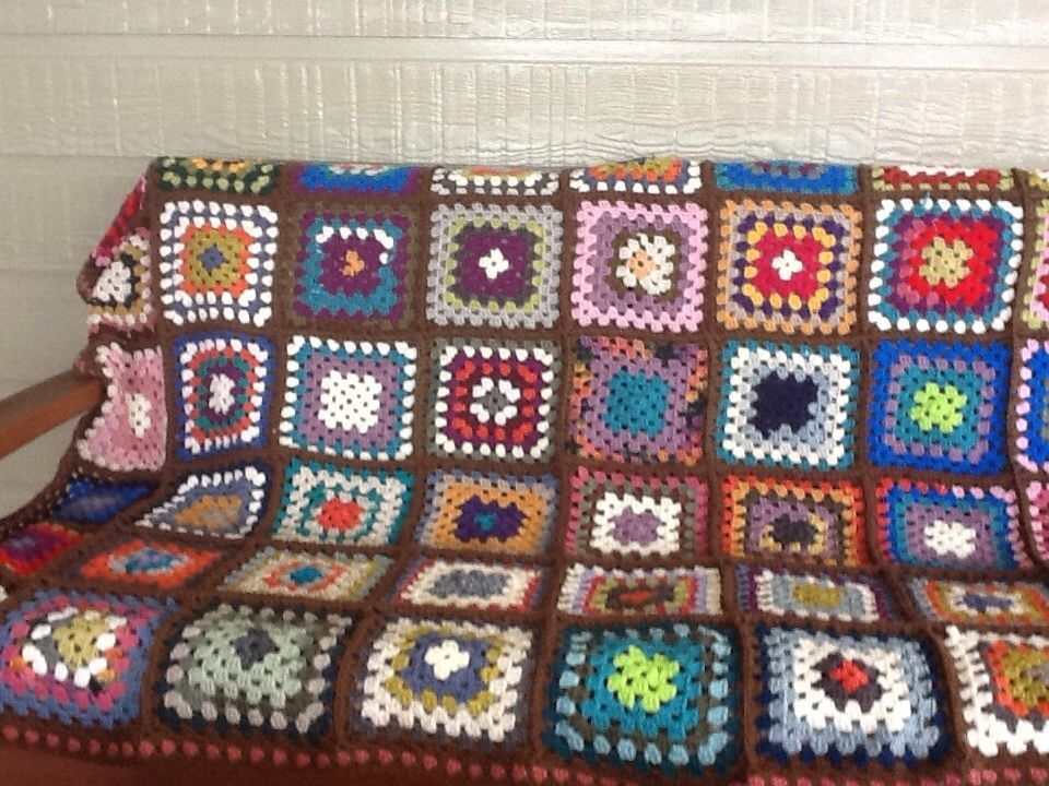 boho hippy chic hand made crochet patchwork large throw rug quilt 140x180cm wool patchwork on boho chic kitchen rugs id=75578