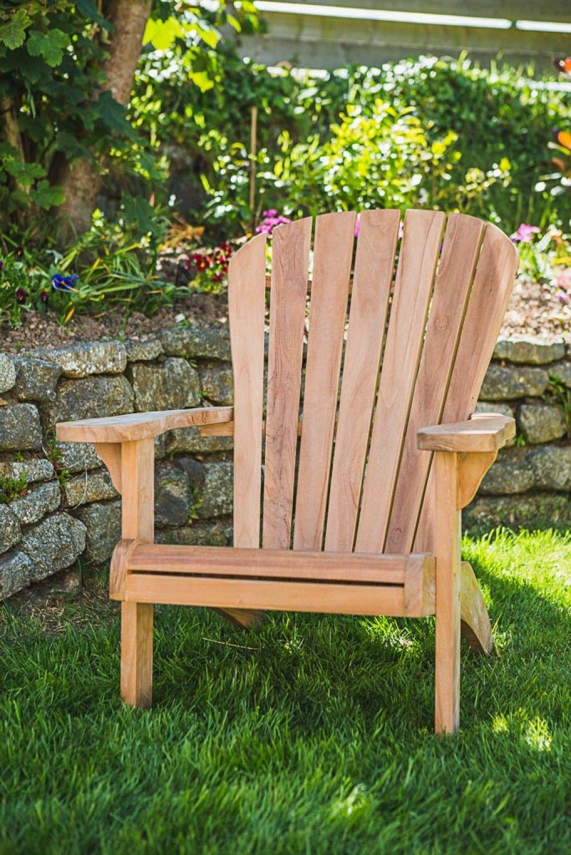 Fixed Teak Adirondack Chair Teak Adirondack Chairs Garden