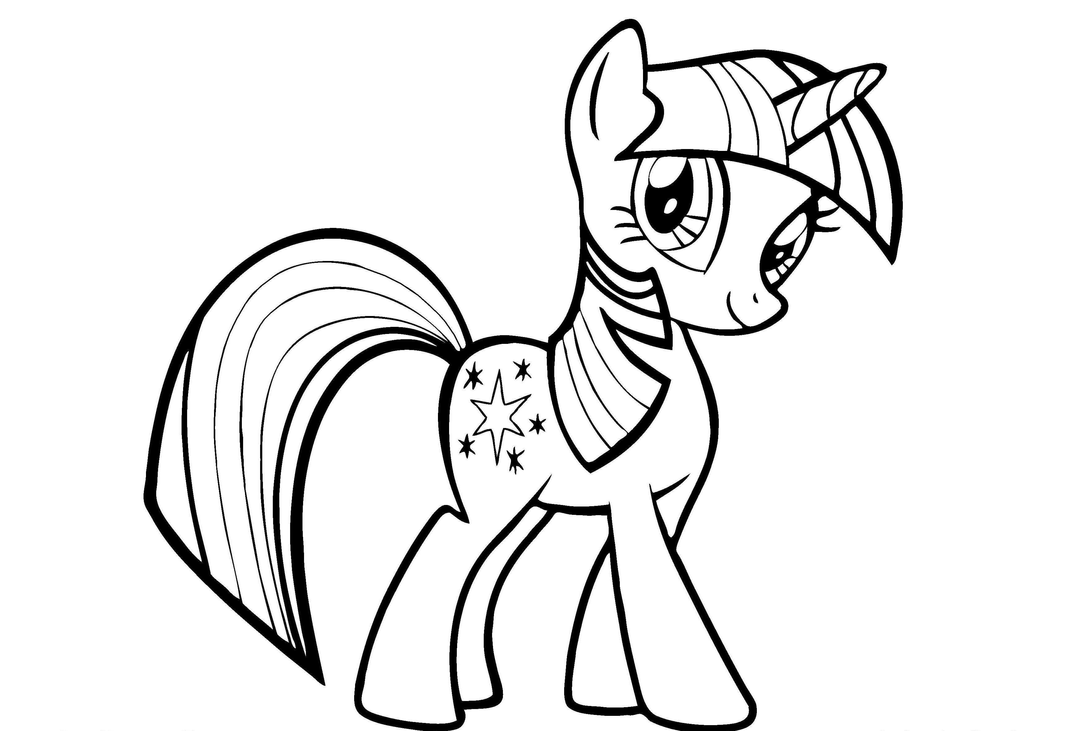My Little Pony Twilight Sparkle Coloring Pages Through The