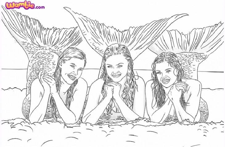 Coloriage H2o Les Sirenes En Ligne Et A Imprimer Gratuit Coloring Pages Mermaid Coloring Pages Coloring Pages To Print