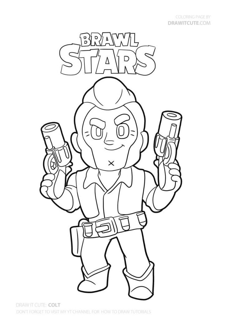coloring pages sandy print brawl stars character online