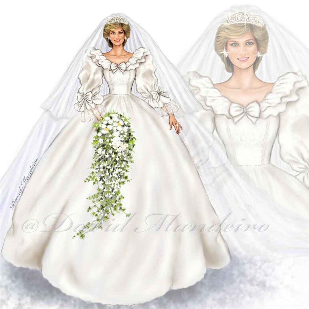 Diana Spencer Lady Diana Princess Of Wales And Queen Of Hearts Trowback Remember Digi Princess Diana Wedding Royal Wedding Gowns Princess Diana [ jpg ]