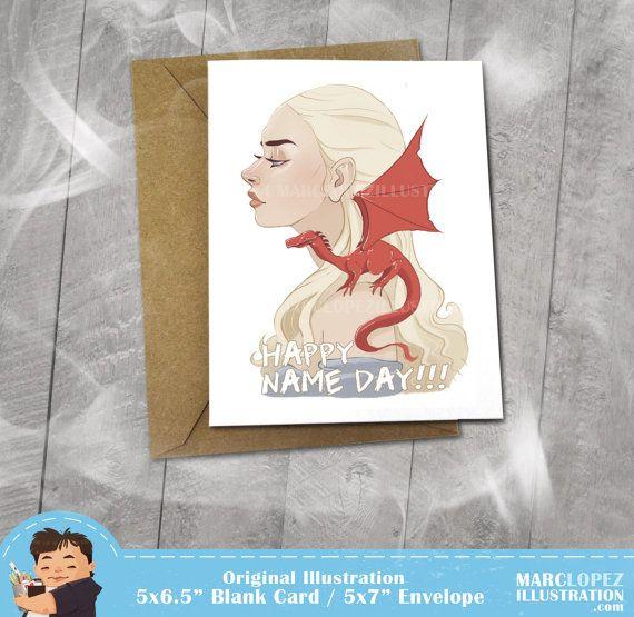 Game Of Thrones Birthday Card Daenerys Targaryen By Marclopez 350