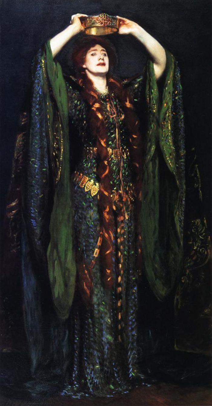 Miss Ellen Terry as Lady Macbeth - John Singer Sargent, 1889 ...
