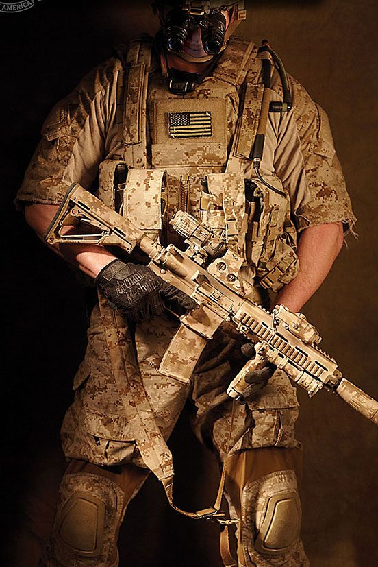 JSOC DEVGRU typical Neptune Spear load out, except these NVG's are
