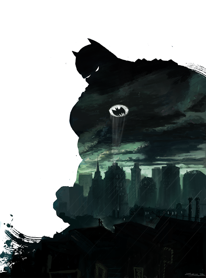 I gave my roommate a copy of the dark knight returns. A few days later he paints this. - Imgur