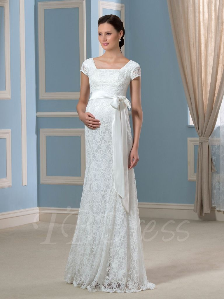 Maternity wedding dress with sleeves  wedding dresses for pregnant brides  dressy dresses for weddings