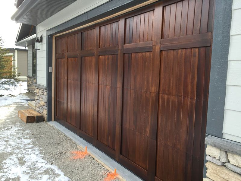 Garage door stained using sikkens cetol1 and sikkens for Garage ad stains