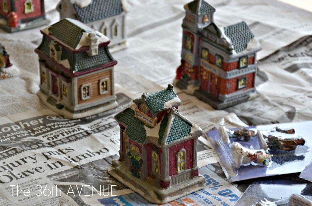 How To Store Christmas Village Houses.Diy Dollar Store Christmas Village Christmas Villages