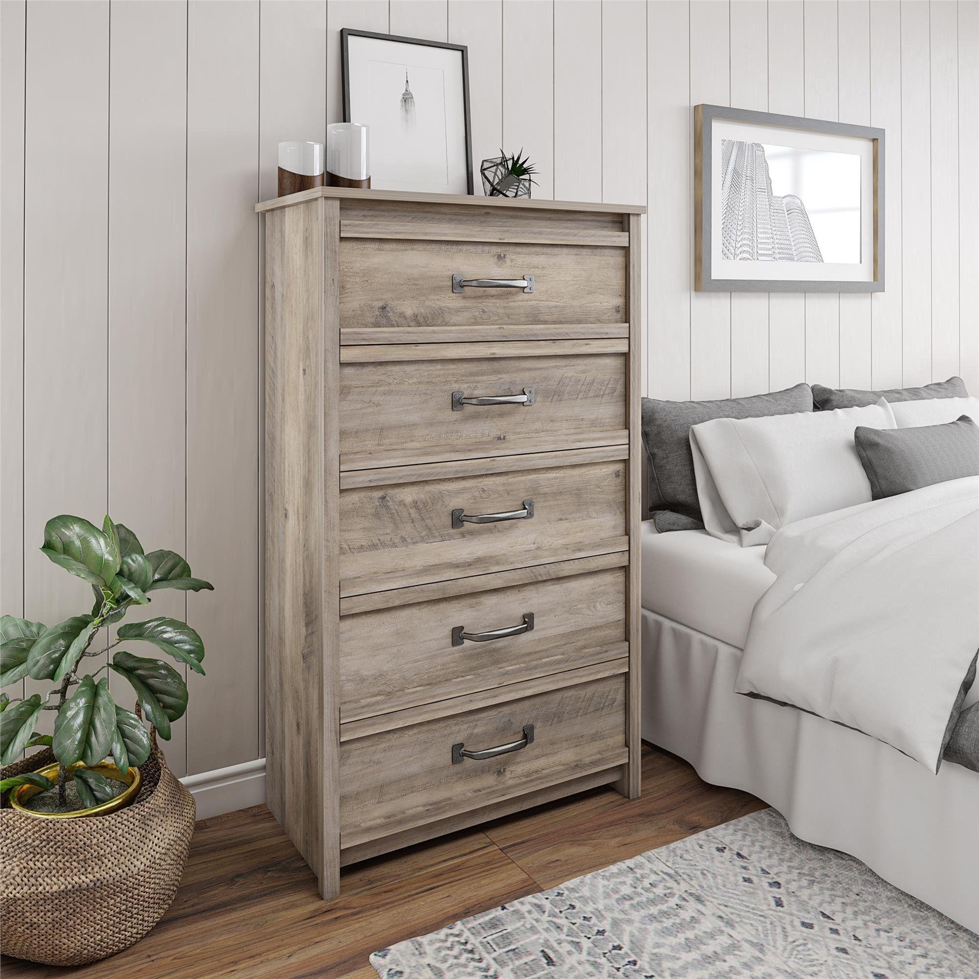Better Homes Gardens Rustic Ranch 5 Drawer Dresser Gray Oak Walmart Com Tall Dresser Decor Grey Oak Dresser Drawers [ 2000 x 2000 Pixel ]