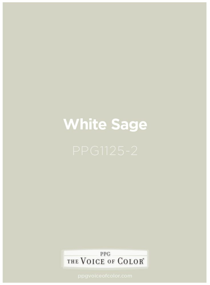 White Sage Paint Color Https Www Ppgvoiceofcolor Digital