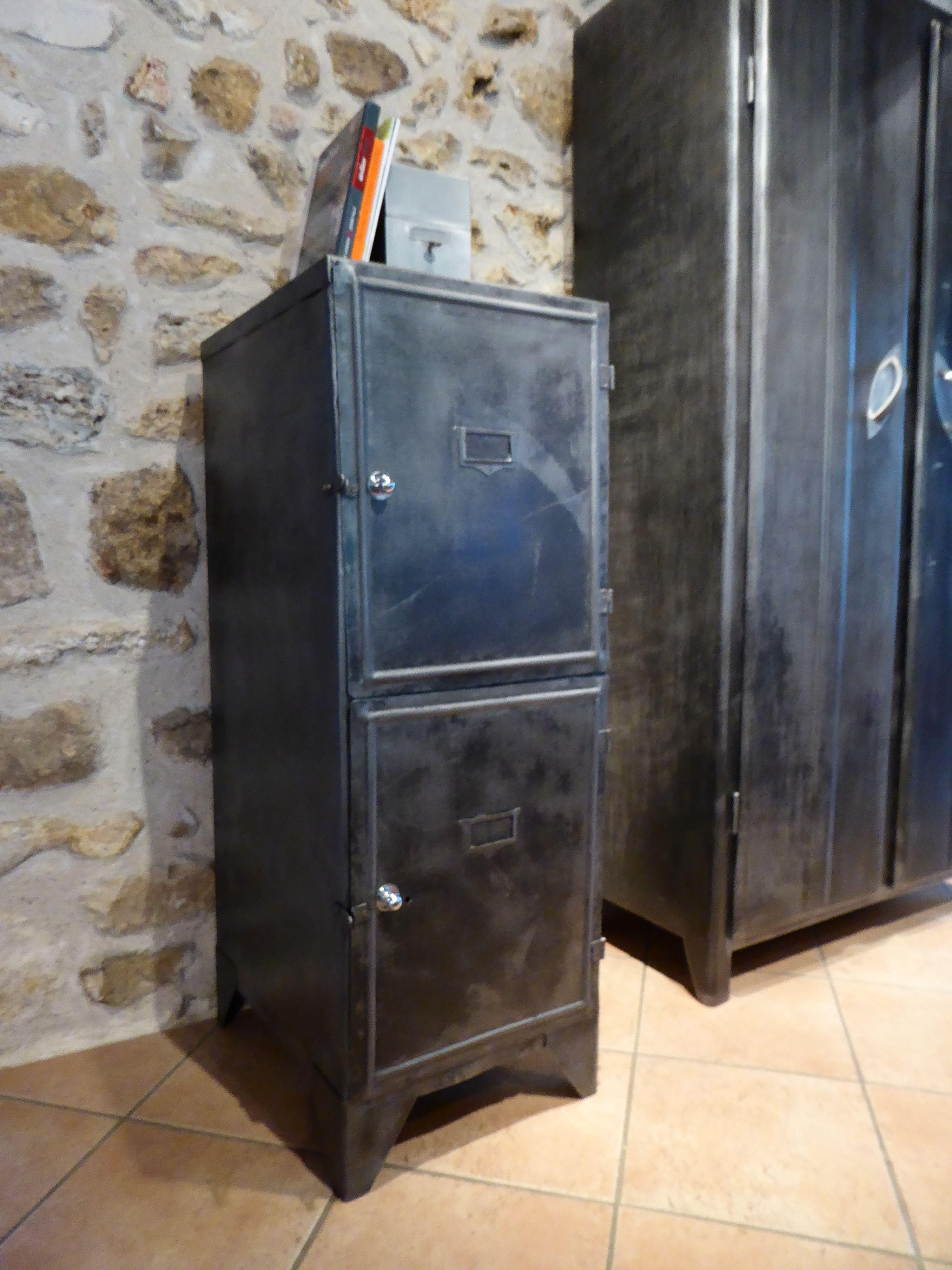 Meuble en métal années 50 Armoire de cuisine Inspirationrecup