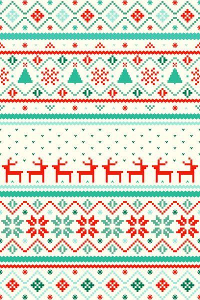 Festive Fair Isle Art Print By Tracie Andrews Christmas Phone Wallpaper Holiday Wallpaper Xmas Wallpaper